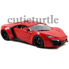 Jada Fast and Furious 7 Movie Lykan Hypersport 1:32 Diecast Toy Car 97386 Red