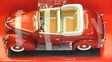 1937 FORD V8 CONVETIBLE METALLIC RED NEW IN BOX.