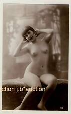 ART Deco * nude French Girl * VINTAGE biederer Photo PC