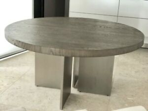 """Restoration Hardware Channel Round Dining Table 60"""""""