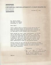 Chick Harbert Signed Letter to Collectible Dealer Mort Olman JSA Authenticated