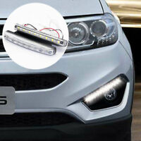 2X 8 LED Daytime Running Lights DRL Car Fog Day Driving Universal White Lamp 12V
