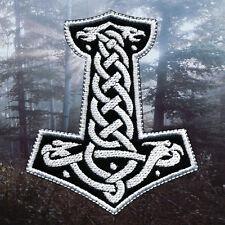 Thor's Hammer - Interwoven | Embroidered Patch | Mjollnir | Viking Metal