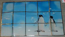 """STCIKERS AUTO-COLLANT WATERPROOF """"PINGOUINS"""" DECORATION MURALE PIECE D'EAU NEUF"""