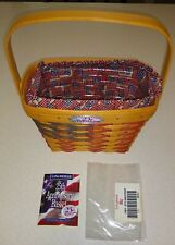Longaberger Collectors Club 25th Anniversary Flag Basket 1998 w/ Flag Fabric 7""