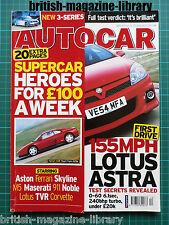 Autocar 22/3/2005 Astra VXR Quattroporte v Panda Road Test: BMW 320d SE