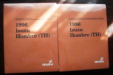 1996 NOS OEM Isuzu Hombre Workshop Manuals/2 Volume Set/Mechanical & Electrical