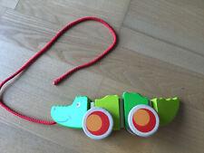 Goki Ziehtier Krokodil Holz Spielzeug Holzspielzeug 20 cm Nachziehtier 54903