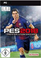 Pro Evolution Soccer 2018 / PES 18 Steam PC CD Key Download Code [EU/DE]