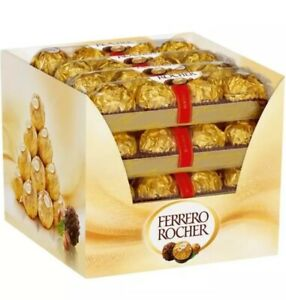 FERRERO ROCHER WRAPPED MILK CHOCOLATES FULL BOX 48(16 x 3 PACK)TRACKING DELIVERY