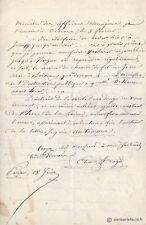 Étienne ARAGO - GUERRE 1870 - Lettre HISTORIQUE sur Jules SIMON (BE)