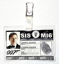 James Bond 007 ID Badge Daniel Craig Skyfall MI6 SI5 Prop Cosplay Comic Con