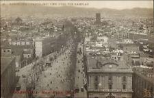 Barcelona Spain Birdseye View c1910 Real Photo Postcard