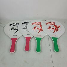 Vintage Beach Ball PaddlesGraphic Red Blue White Beach Game. Lot of 4