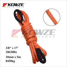 10mm x 5m 8450kg Dyneema Extension Winch Cable for SUV ATV Truck Boat Marine