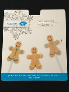 Chocolate Gingerbread Man Person Chocolate Mould Lollipop Lolly 3 Shapes on 1
