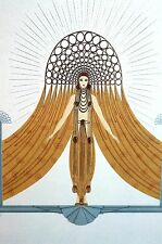 Erte 1987 CIRCE GODDESS of MAGIC GREEK MYTHOLOGY TITANS Art Deco Matted Print