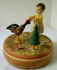 Thoren's Wooden Music Box - Girl w/ Rooster -Song - Hi Lilli Hilo / Vintage
