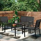 4 Pieces Patio Furniture Set Outdoor Conversation For Garden And Poolside