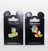 Walt Disney Pin Trading 2-Pins DONALD WITH PRESENT & BABY DONALD PLAYING PIANO