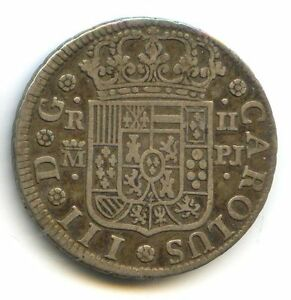 ESPAGNE CHARLES III (1759-1788) 2 RÉALES ARGENT 1771 MADRID