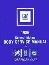 1986 Buick Cadillac Oldsmobile Fisher Body Service Shop Repair Manual Book Guide