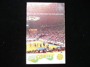 1971-72 Seattle Supersonics NBA Basketball Media Guide