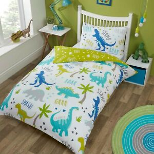 "Rapport Kids Children's ""Roarsome"" Dino Duvet Cover Bedding Set Multi"
