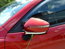 2 Pcs Chrome Side Door Rear View Wing Mirror Trim Garnish for Mazda CX3 CX-3