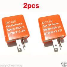 2PC 2-Pin Speed Adjustable LED Flasher Relay Fix Motorcycle KAWASAKI Hyper Flash