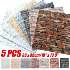 20 Pcs Wandpaneele 3D Tapete Selbstklebend Ziegelstein Wandaufkleber Panel 38x35