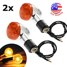 2x Motorcycle Turn Signal Blinker Indicator Light for Honda Suzuki Yamaha Chrome