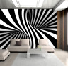 3D Abstract Pattern Black and white Zebra Wall Murals Painting Wallpaper Decor
