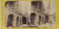 Anfiteatro Da Verona Italia Foto Stereo Vintage Albumina Ca 1865