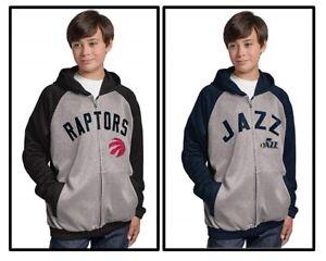 G-III Sports Carl Banks NBA Teen-Boy's Legend Hooded Track Jacket Raptors, Jazz
