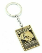 Anime One Piece Bronze Wanted Dead or Alive Keychain Sanji