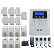Wireless GSM Remote Control Dual Network Home Security Burglar LED Alarm System