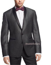 Bar III Men's Charcoal Shiny Texture 42/Long Slim Fit Dinner Jacket Sportcoat