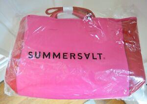 """SummerSalt Neoprene Pink/Red """"Beach Bag"""" NEW"""