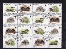 MONACO  bloc   nature  tortues r   1991    num:  1805/08  oblitéré