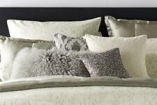 Donna Karan  Exhale Ivory Jacquard PAIR 2 Standard Pillow Shams ~ Luxurious $330