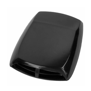 Black Car Vent Flow Intake Hood Cover ABS Sticker Decorative Air Scoop 330x225mm
