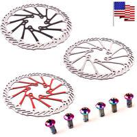 160/180/203mm MTB Bike Disc Brake 6 Bolts Rotor Cycling Rotor Screws T25 12PCS