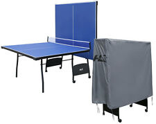 9ft Professional Blue Table Tennis Table with Waterproof Protective Cover & Net