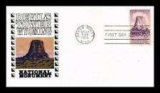 DR JIM STAMPS US SCOTT 1084 DEVILS TOWER MONUMENT FDC COVER ADD ON