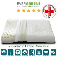 Cuscino Guanciale Cervicale in Lattice 100% Made in Italy Federa in Aloe Vera