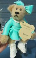 VINTAGE TEDDY BEAR BEARLY THERE PLUSH ROLLER SKATING GIRL ROSEY FANNY ARTIST 8""