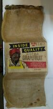 Vintage Mammy Inside Quality Brand Grapefruit bag/La Feria, Texas