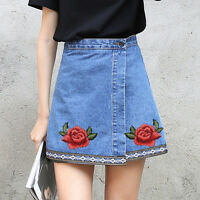 2PCS  Embroidery Applique Cloth Red Rose Flower DIY Sewing & Iron on Patch Badge