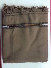 AFGHAN PATOO BLANKET wool SHAWL PATU LONG SCARF WRAP THICK MENS WOMENS Solid